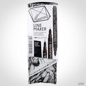 Derwent Graphik Line Marker Black 3
