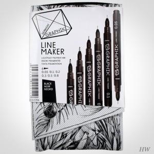 Derwent Graphik Line Marker Black 6