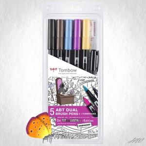 Tombow Dual Brush Pen ABT-5P-MH Tot aber Lustig