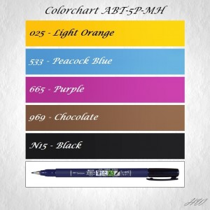 Colorchart Tombow Dual Brush Pen ABT-5P-MH Tot aber Lustig