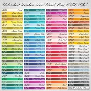 Colorchart Tombow Dual Brush Pen ABT-108C