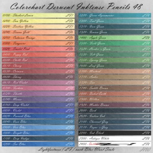 Colorchart Derwent Inktense Pencils 48