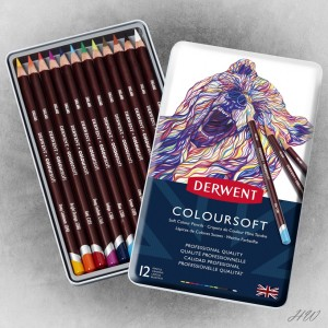Derwent Coloursoft Pencils 12