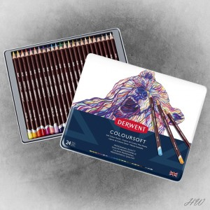 Derwent Coloursoft Pencils 24