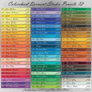 Colorchart Derwent Studio Pencils 72