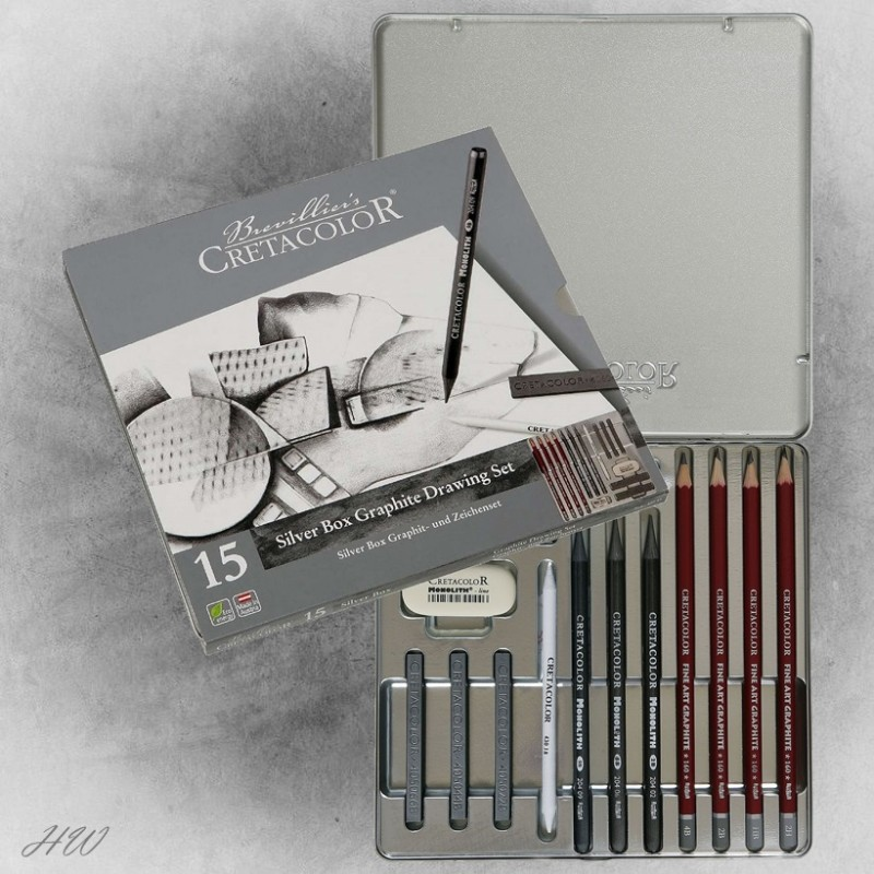 Cretacolor Silver Box Graphite-Set 40018