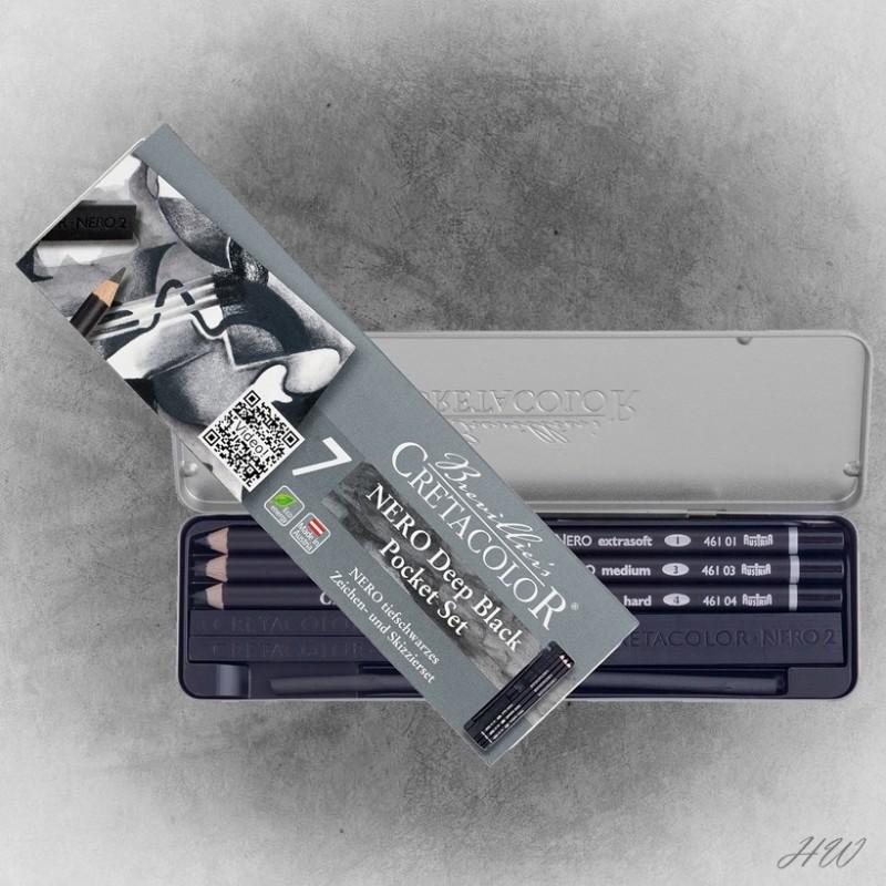 Cretacolor Pocket-Set Nero 40008