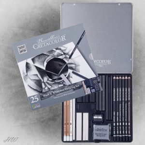 Cretacolor Black-White Box 40026