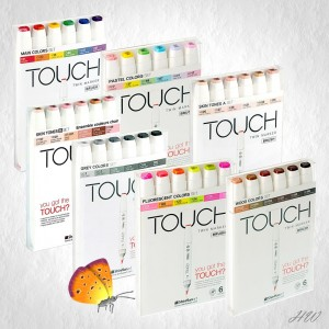 Shinhan Touch Brush Marker 6er Sets