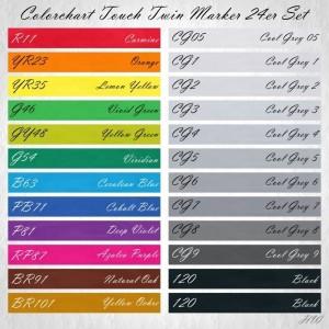 Colorchart Shinhan Touch Twin Marker 24er-Set